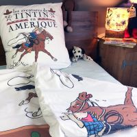 Vintage Tintin SINGLE Duvet - Tintin in America - Slight Second