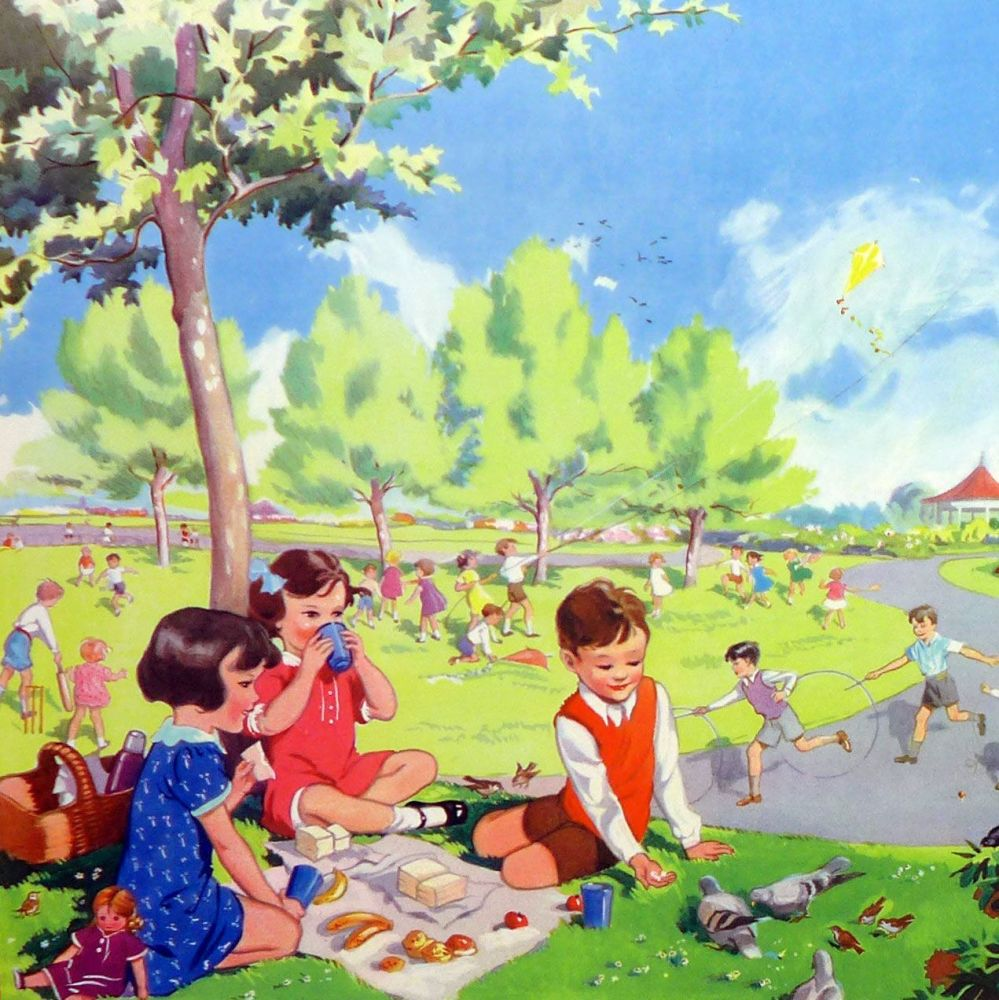 Vintage School Poster 1938 - Trees in Summer