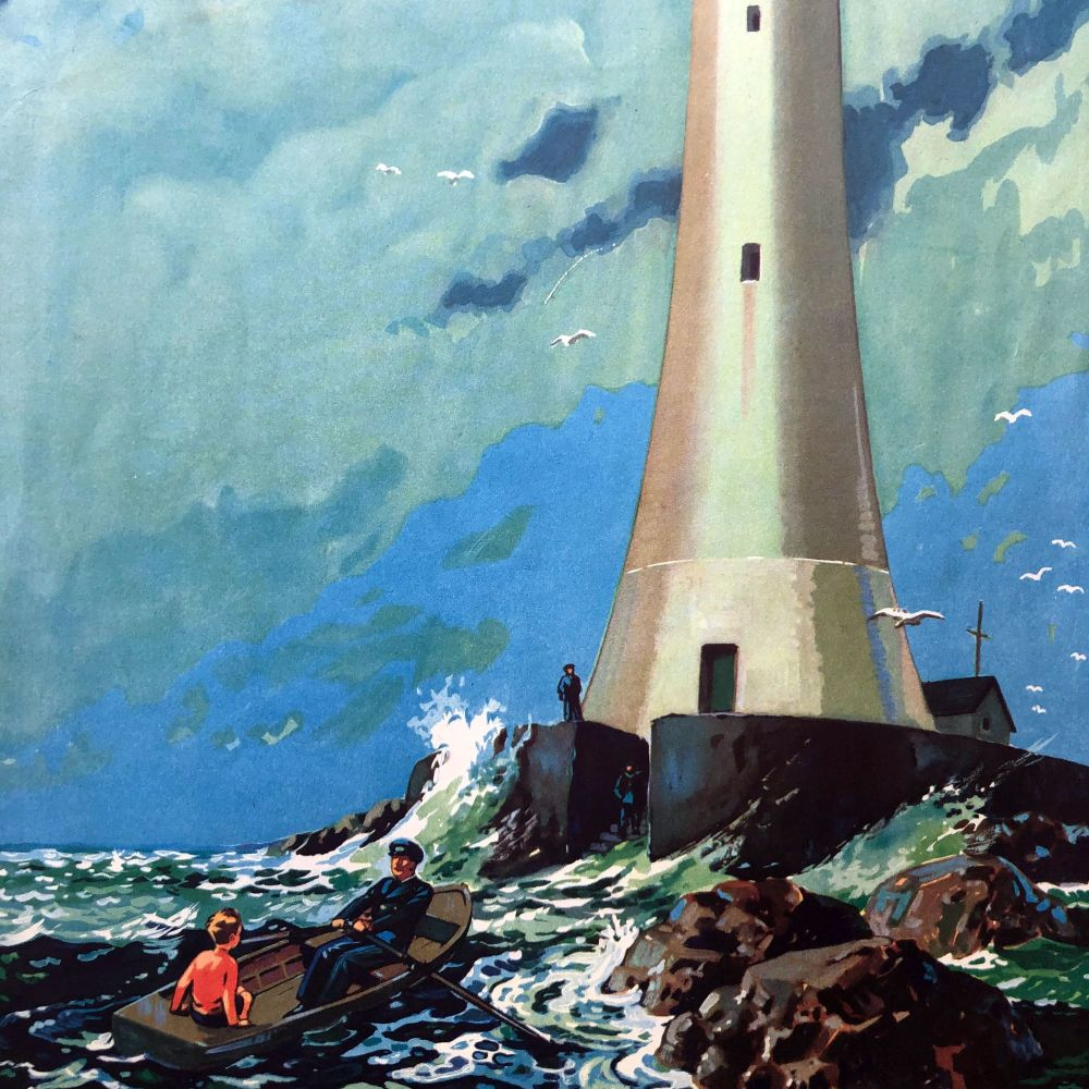 Vintage School Poster 1938 - The Lighthouse