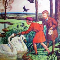 Vintage School Poster 1938 - Birds in Winter