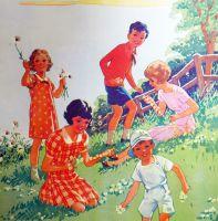 Vintage School Poster 1938 - Daisies