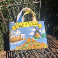 Vintage Isle of Wight Shopping Bag - Upcycled Market Bag