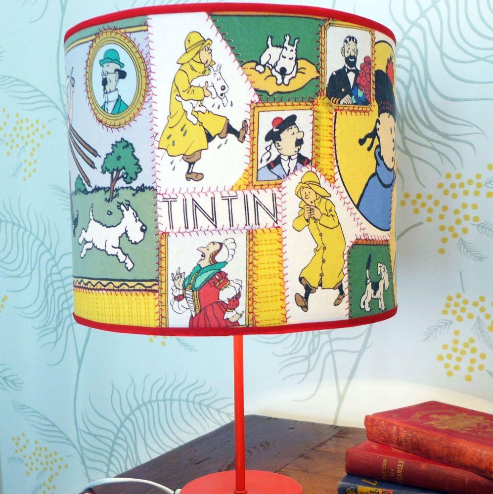 Bespoke Patchwork Tintin Lampshades