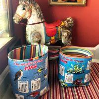 Large Fabric Basket Organiser - People's Friend