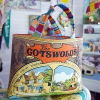 Structured Tote Bags - Cotswolds - Vintage Souvenir Bag