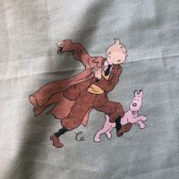 Tintin Character Cotton - Green - 120cm x 60cm
