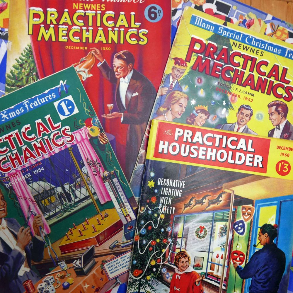 Vintage Christmas Magazines - Practical Mechanic & Householder