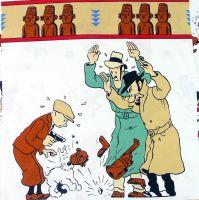 Tintin and the Broken Ear Cotton Panel- 60cm x 60cm