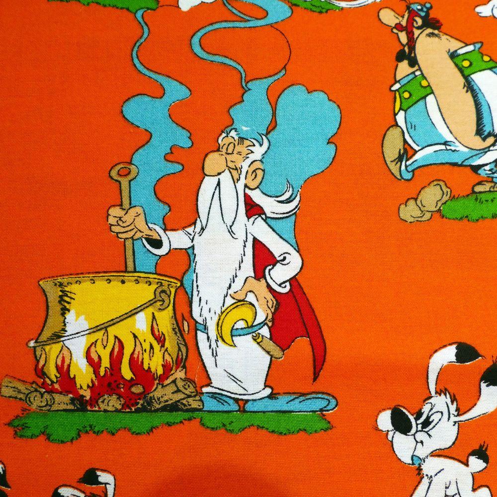 Rare Vintage Asterix Cotton - 66cm x 70cm
