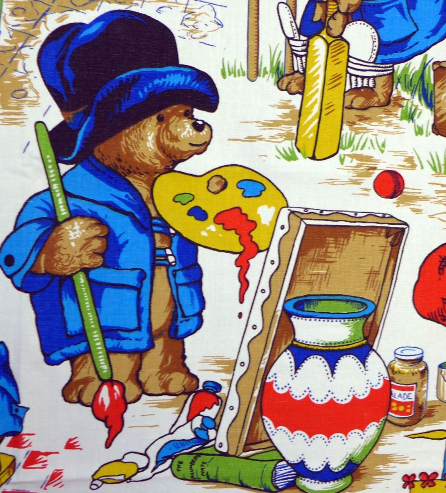 Vintage Cotton Paddington Fabric by Wardle Fabrics - 80cm x 40cm