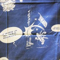 French Asterix Cotton - Blue -  130cm Wide