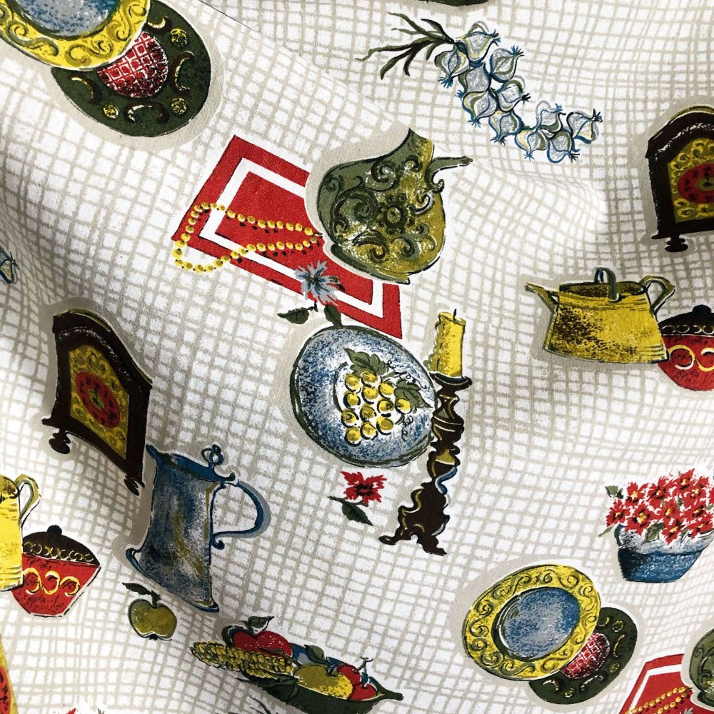 Mid Century Kitchen Fabric -  105cm wide