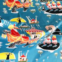 Moomins Cotton - Party At Sea - 150cm wide