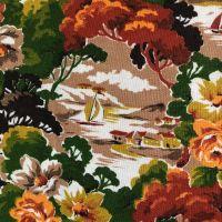 Mid Century Pictoral Linen - 108cm x 70cm