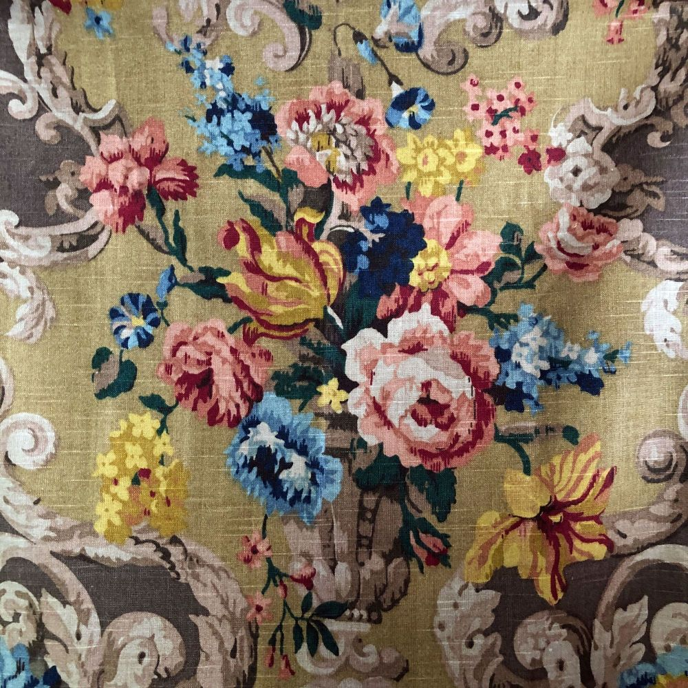 Floral Rococo Linen by Mulberry - 66cm x 100cm