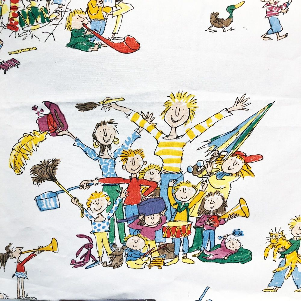 Quentin Blake Cotton - All Join In - 110cm x 80cm