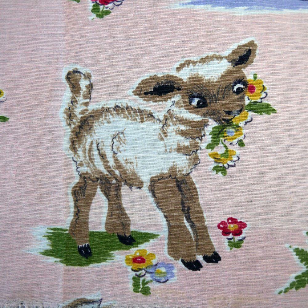 1940's  Nursery Print Cotton - 70cm x 40cm