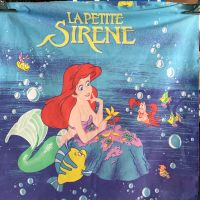 Little Mermaid Cotton - Vintage Disney - 2 Panels - 55cm x 55cm