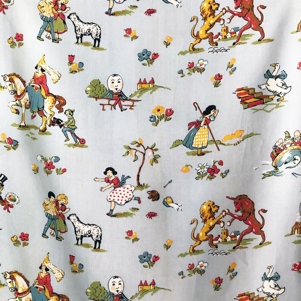 1940's Nursery Rhyme Fabric - 72cm x 60cm