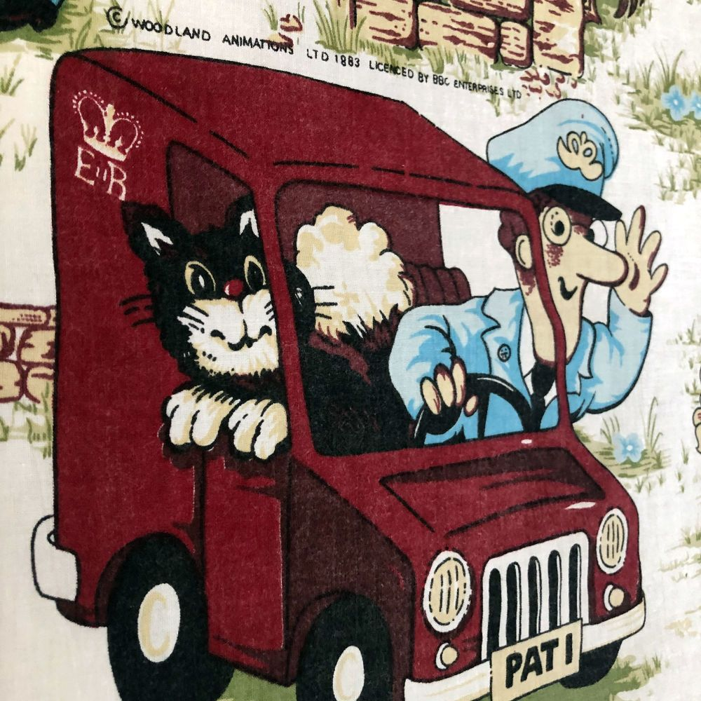 1983 Postman Pat Cotton  - Metre Lengths