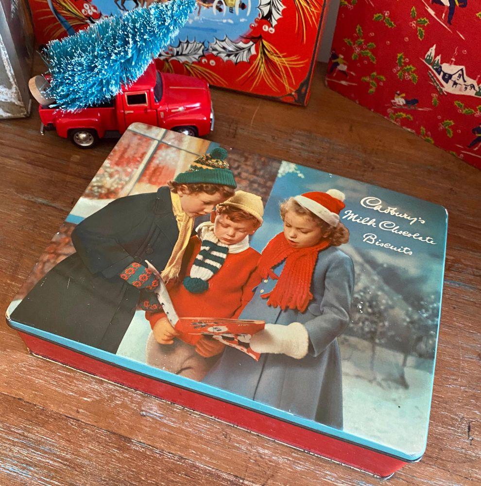 Vintage Christmas Tin - Cadbury's