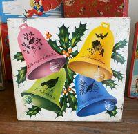 Vintage Christmas Cake Tin - Christmas Bells - 1960's