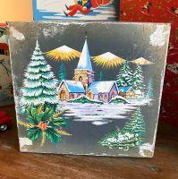 Vintage Christmas Tin - Winter Scene - 1960's