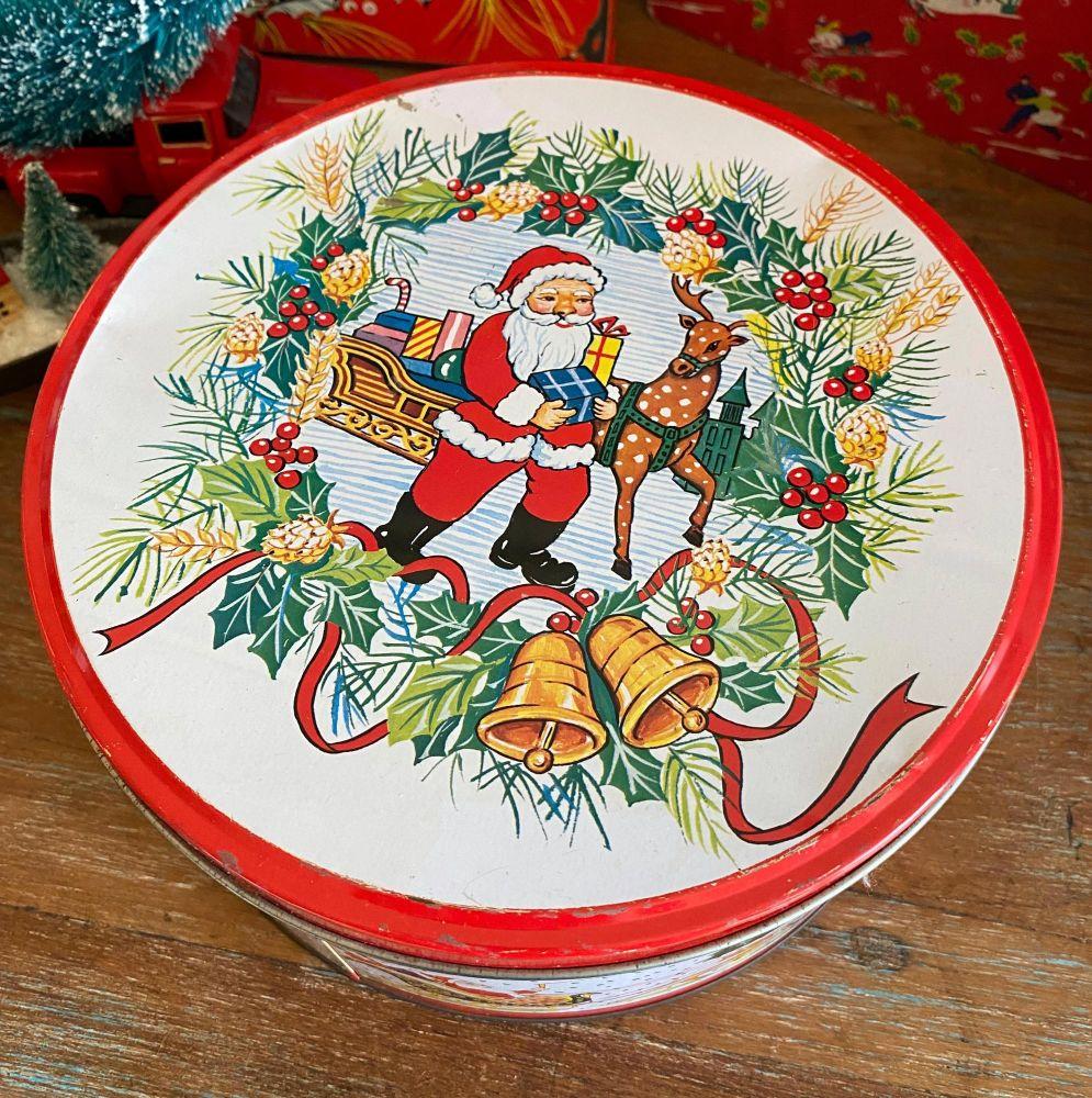 Vintage Christmas Tin - Father Christmas - 1970's