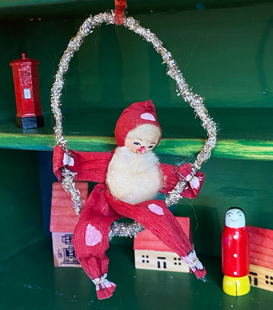 1930's Christmas Decoration - Santa and Swing