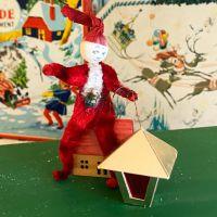 1930's Christmas Decorations - Santa with Lantern
