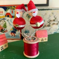 Vintage Father Christmas Decoration