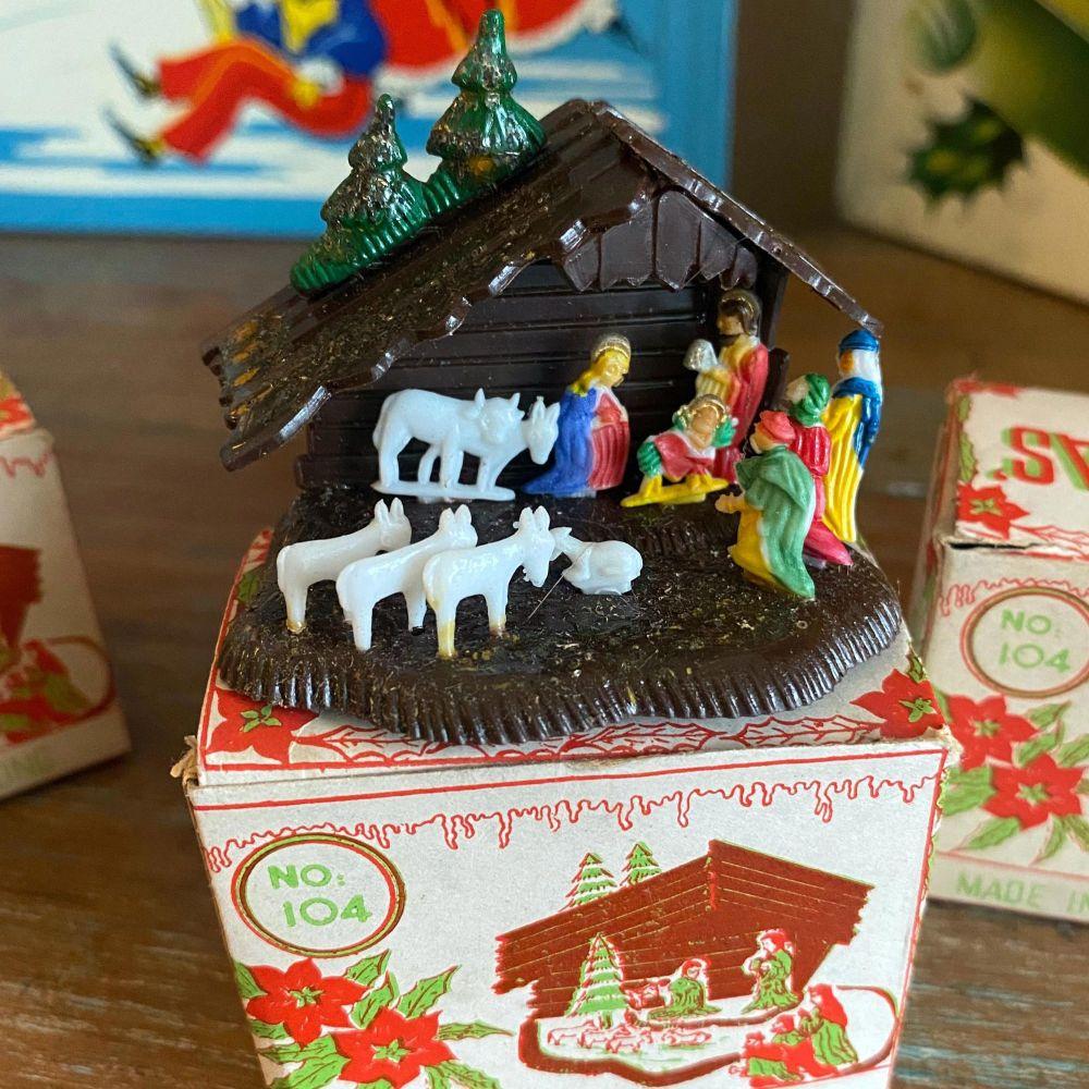 Vintage Boxed Nativity Sets
