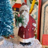 Handmade Christmas Decoration - Father Christmas & Tree