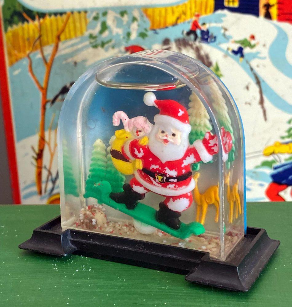 1960's Christmas Snow Globes - Snow Shakers