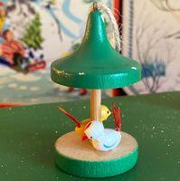 Vintage Wooden Christmas Decorations - Bird Feeder