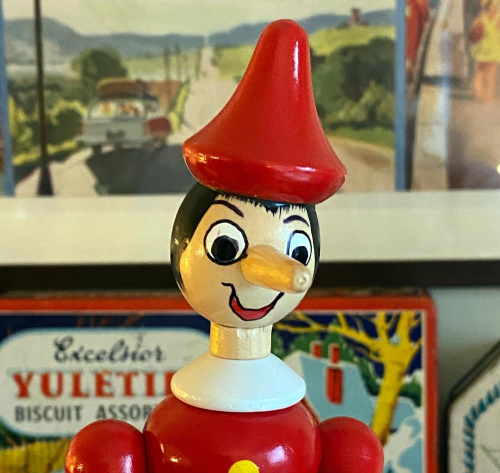 Traditional Italian Pinocchio Figure