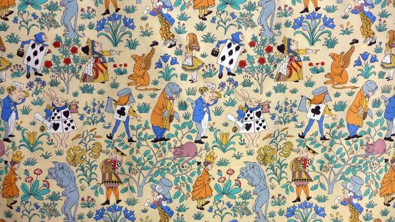 Vintage Alice In Wonderland Fabric 34