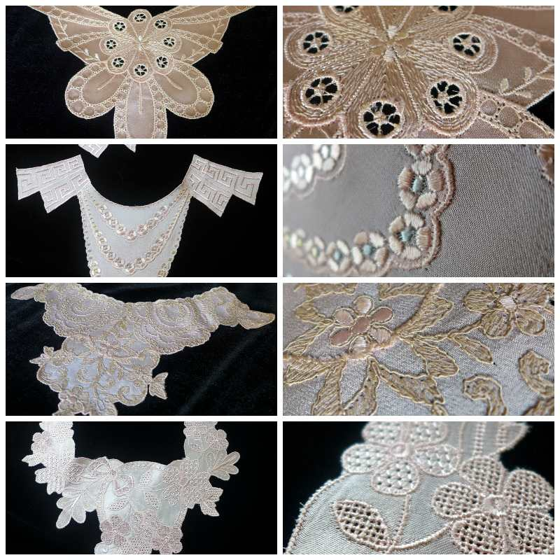 silk embroidery collage