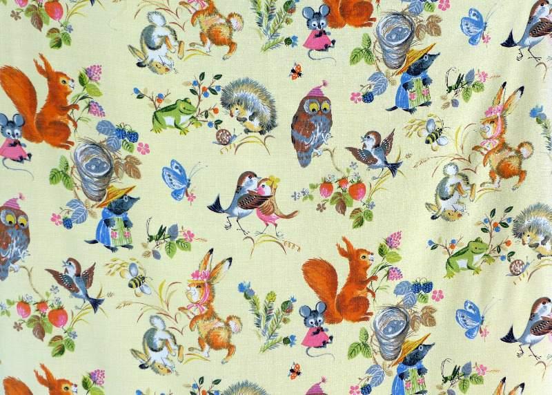 woodland-animal-vintage-fabric-1