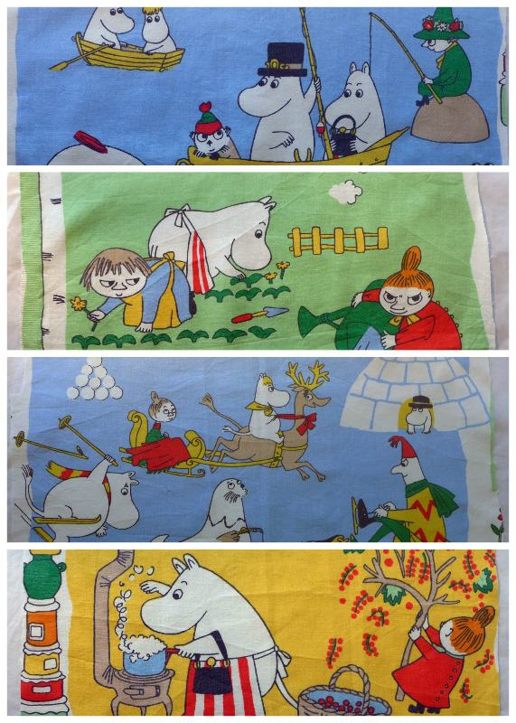 moomin cotton panels