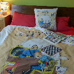 Vintage Tintin DOUBLE Duvet Cover - The Broken Ear