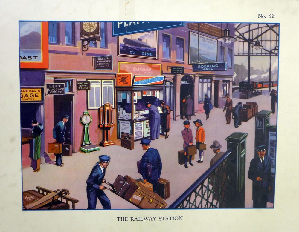 Vintage School Poster 1930's/40's - The Railway Station