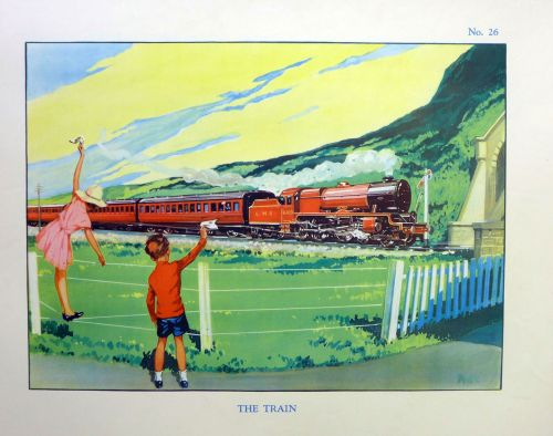 Vintage School Poster 1930's/40's - The Train
