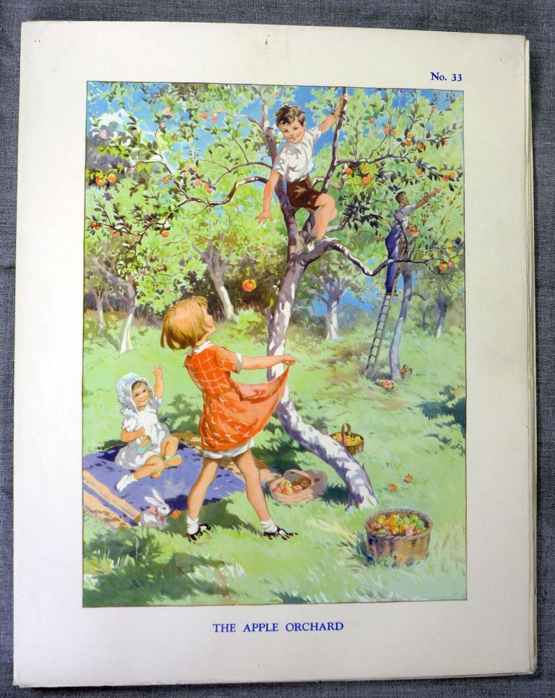 Vintage School Poster 1930's/40's - The Apple Orchard