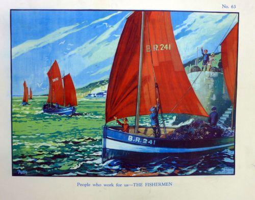 Vintage School Poster 1930's/40's - The Fisherman
