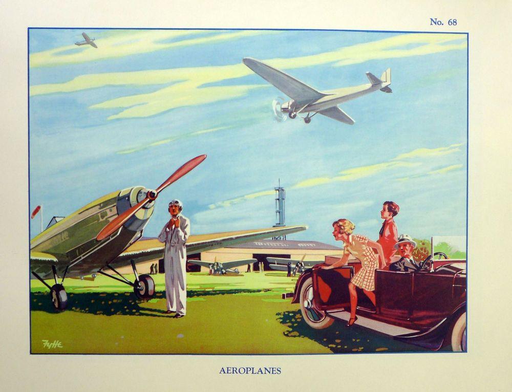 Vintage School Poster 1938 - Aeroplanes