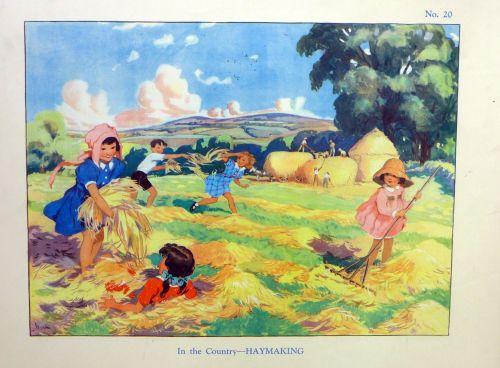 Vintage School Poster 1938 - Haymaking