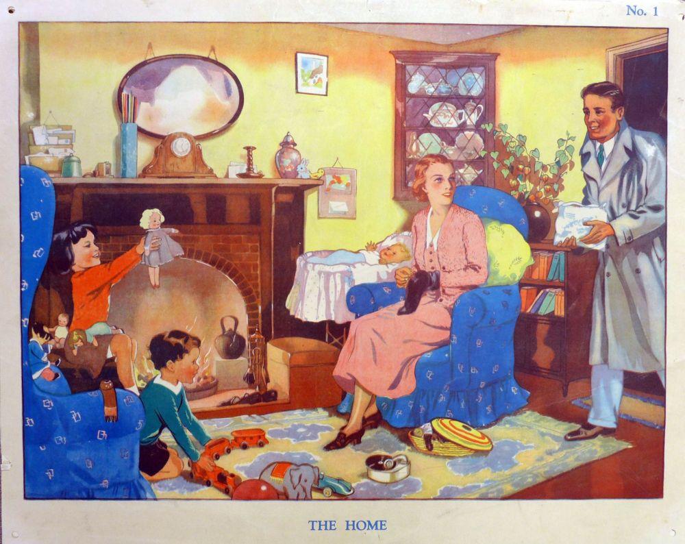 Vintage School Poster 1938 - The Home