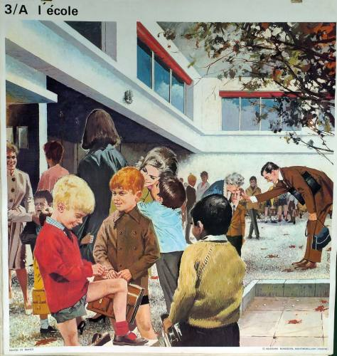 1960's French School Poster - At School/The Hunt