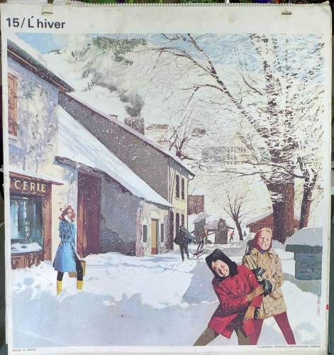 1960's French School Poster - Winter